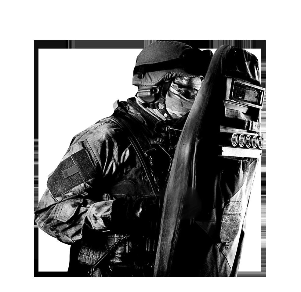 Blindaje Corporal equipo antimotín
